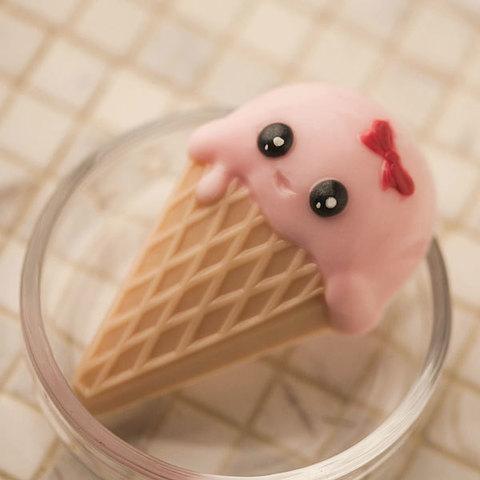 Пластиковая форма для мыла Мороженое рожок