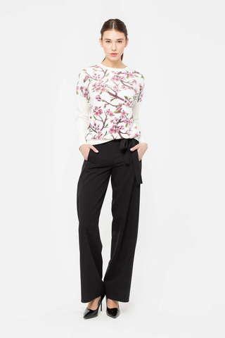 Фото широкие брюки черного цвета - Брюки А491-714 (1)