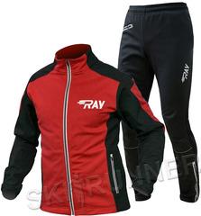 Утеплённый лыжный костюм RAY Pro Race WS Red-Black 2018 мужской