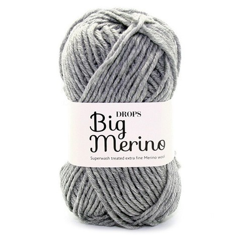 Пряжа  Drops Big Merino 02 серый