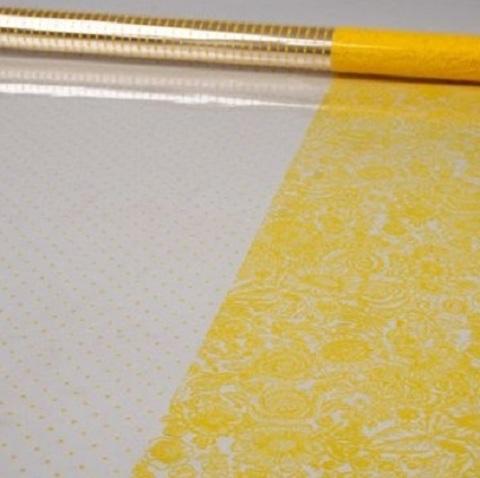 Пленка Вернисаж и точки (размер:80см х 7м) Цвет:желтый