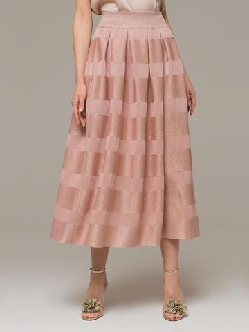 Женская юбка светло-розового цвета из вискозы - фото 2