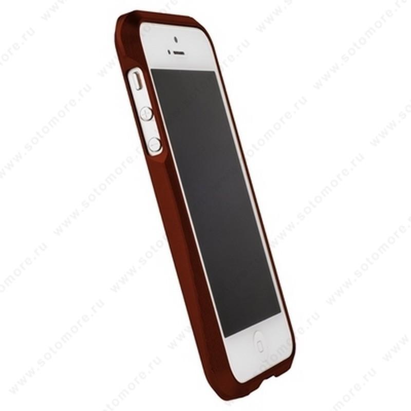 Бампер MIE COOL алюминиевый для iPhone SE/ 5s/ 5C/ 5 A6063 красный
