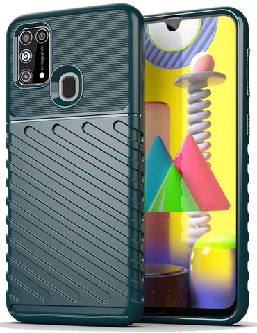 Чехол темно зеленого цвета для Samsung Galaxy M31, серия Onyx от Caseport