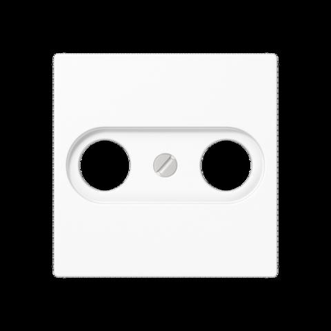 Розетка TV-FM проходная. Цвет Белый. JUNG A. S2900-10+A561PLTVWW
