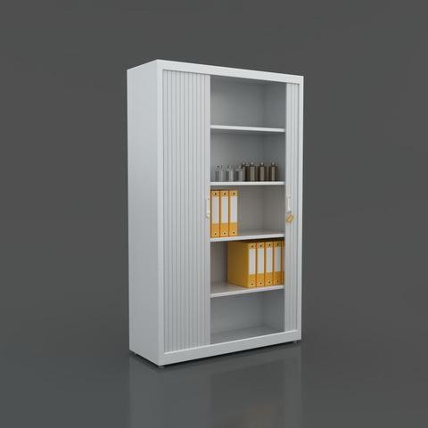 Шкаф медицинский металлический МЕТ Кёльн-100 с раздвижными роллетами - фото