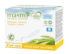 MASMI Тампоны Regular из органического хлопка без аппликатора