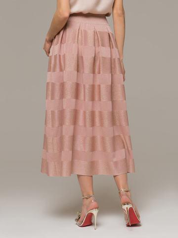 Женская юбка светло-розового цвета из вискозы - фото 4