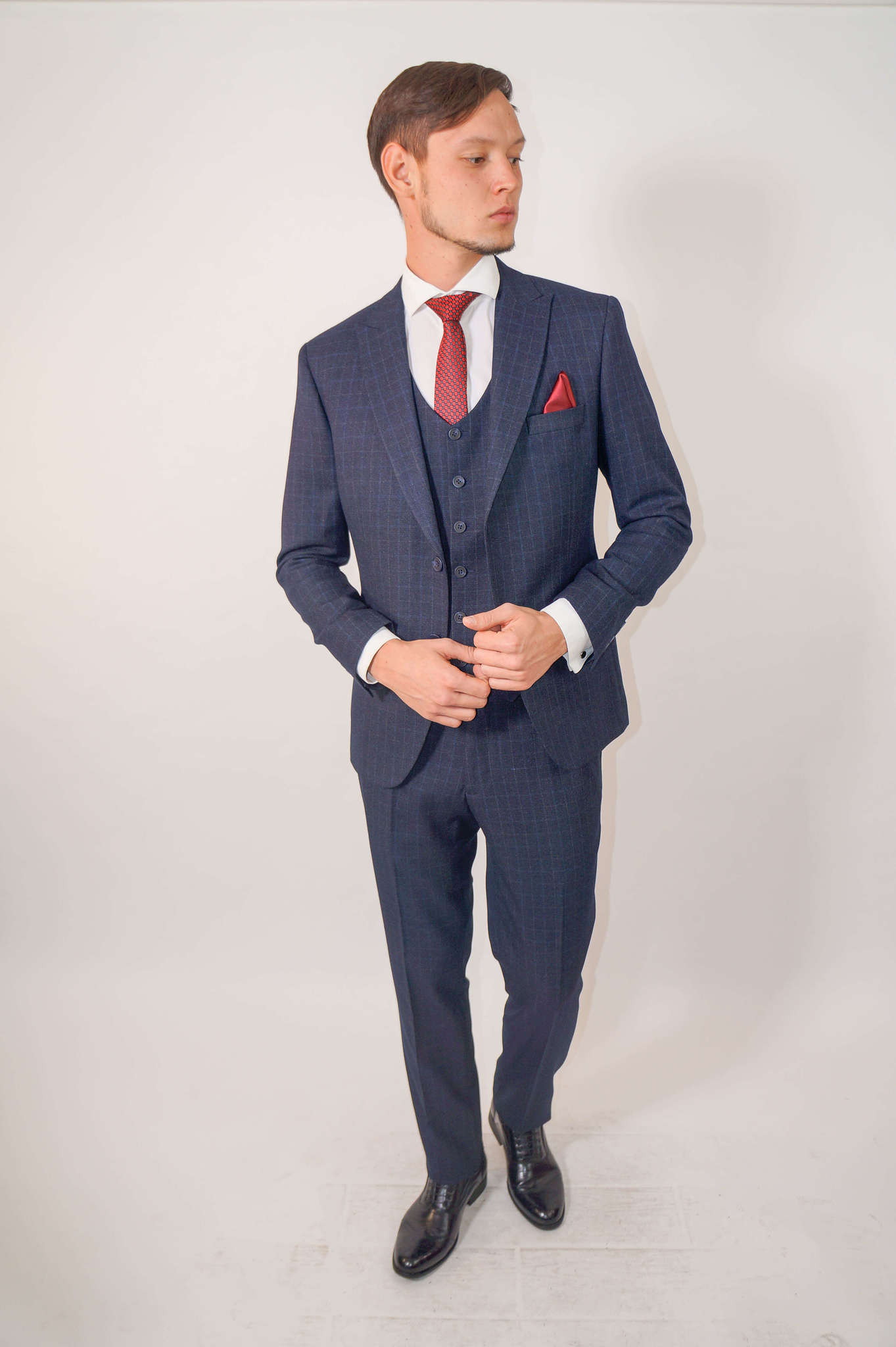 Костюмы Slim fit CESARE MARIANO / Костюм - тройка slim fit DSC02303.jpg