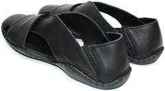 Мужские сандали с закрытым носком Luciano Bellini 801 Black.