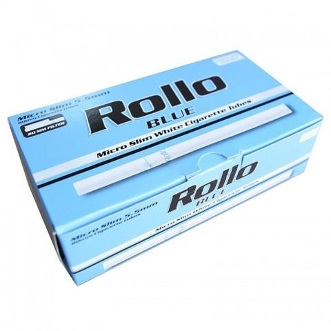 Slim! Сигаретные гильзы Rollo Blue 200 шт. 6,5 mm.