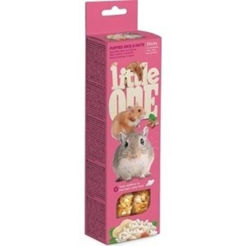 Little One палочки для хомяков, крыс, мышей и песчанок с воздушным рисом и орехами 2шт*55г