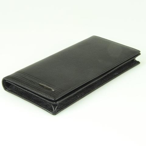 Мужское вертикальное чёрное портмоне купюрник из натуральной кожи яка Dublecity M100-DC11-19A
