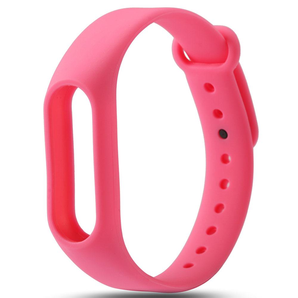 Розовый вариант цвета сменного цветного браслета на Smart Mi Band 2