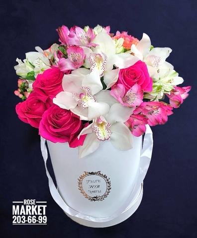 Цветы в шляпной коробке #19292