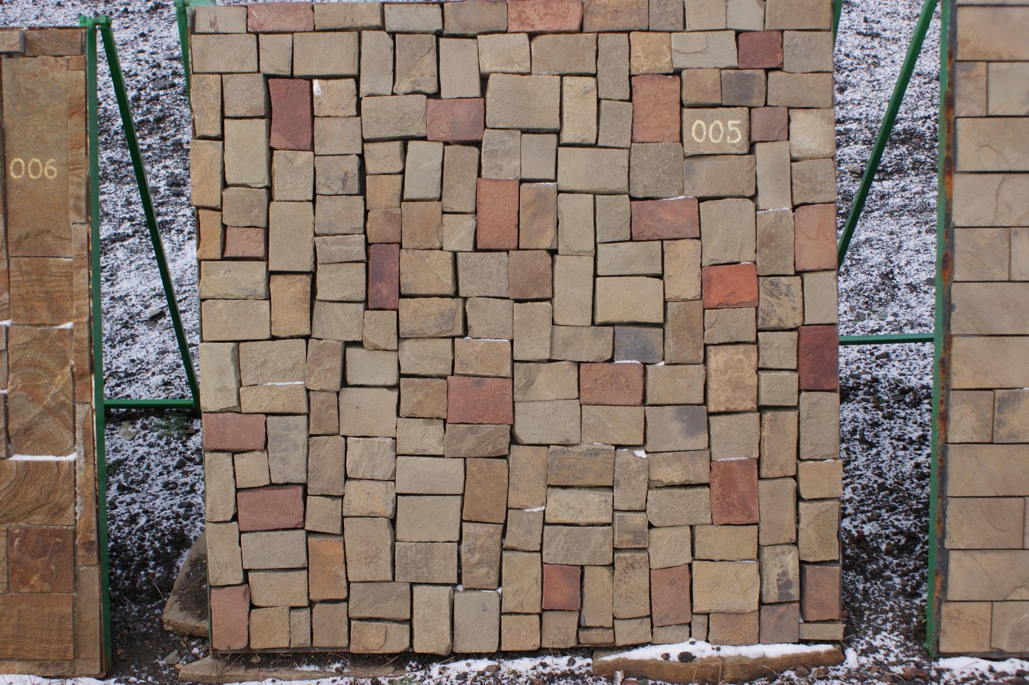 Набор Брусчатки песчаник колотый Мини стенд