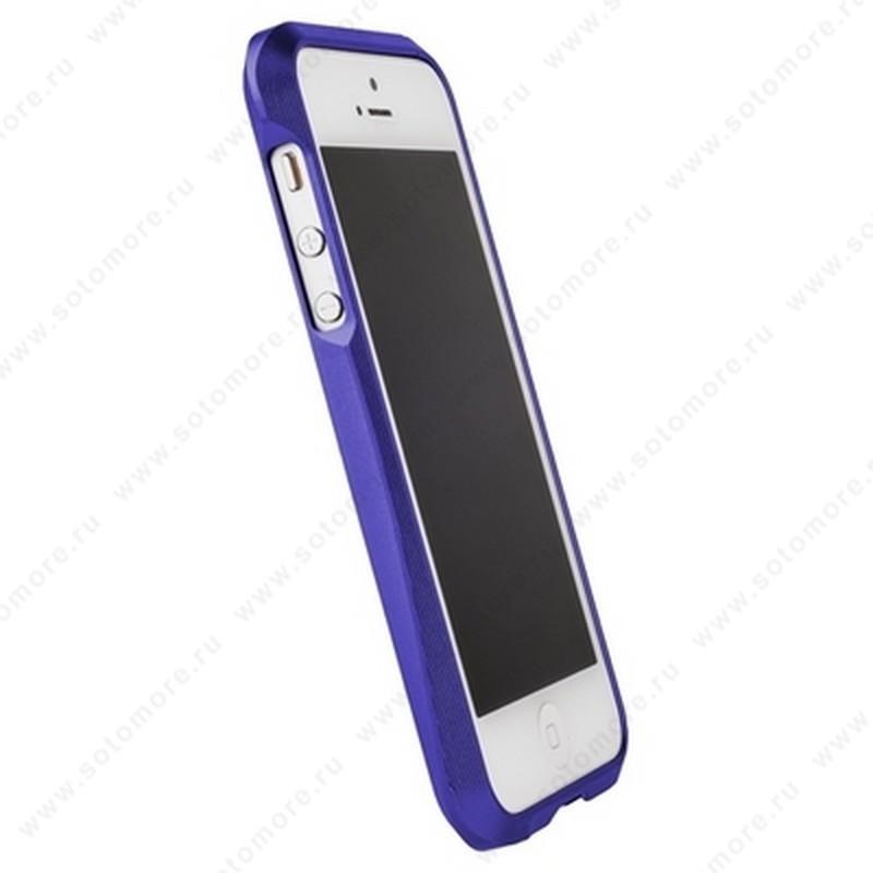 Бампер MIE COOL алюминиевый для iPhone SE/ 5s/ 5C/ 5 A6063 синий