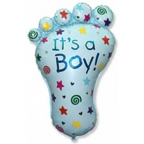 Фольгированный шар Стопа мальчика