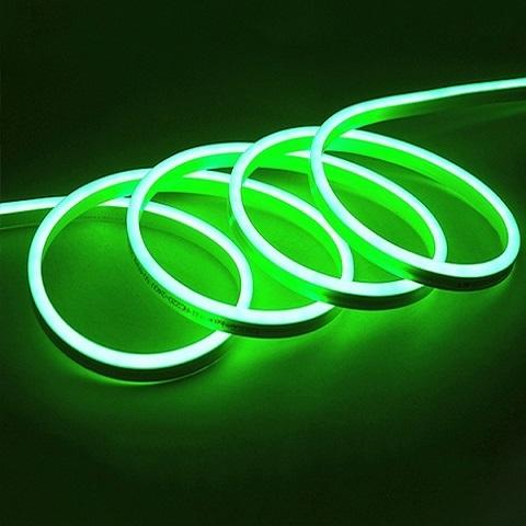 Гибкий неон Мини Зеленый, SMD2835, 8х16 мм, 220В