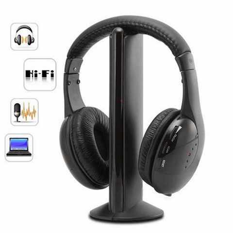 Беспроводные наушники Wireless Headphone 5 в 1 с FM приемником