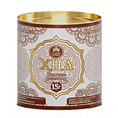 ХНА для Биотату и Бровей Grand Henna 15 гр, светло коричневая