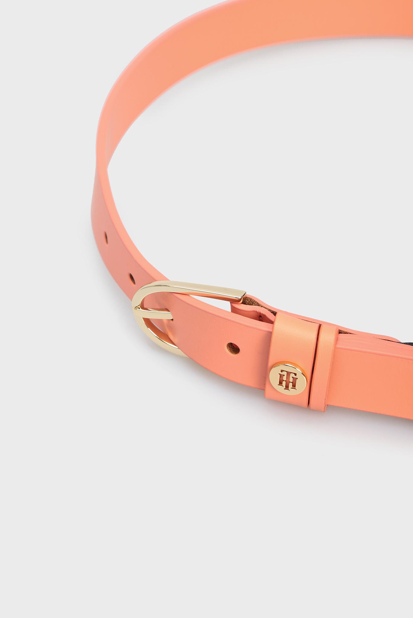 Женский оранжевый кожаный ремень CLASSIC Tommy Hilfiger