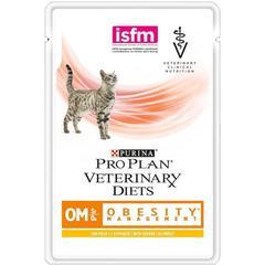 Пауч для кошек, Purina Pro Plan Veterinary Diets FELINE OM, при ожирении, с курицей