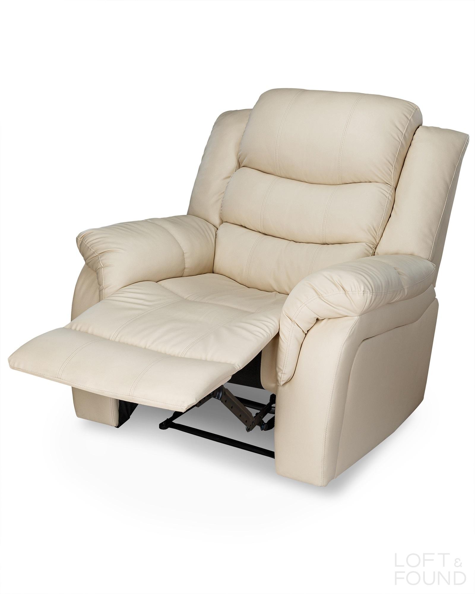 Кресло реклайнер бежевое