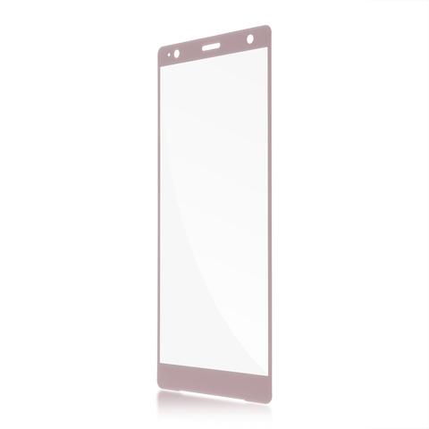 Защитное стекло розового цвета для Xperia XZ2