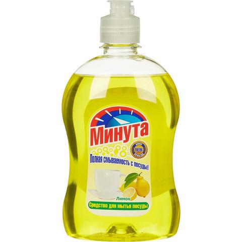 Средство для мытья посуды Минута Лимон 500 мл