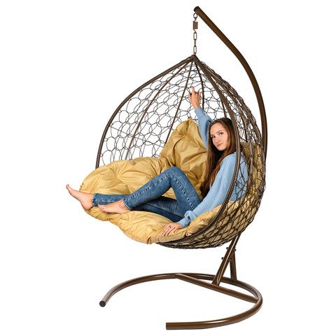 Двухместное подвесное кресло Gemini Brown