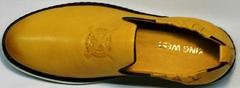 Кожаные мужские туфли под джинсы King West 053-1022 Yellow-White.