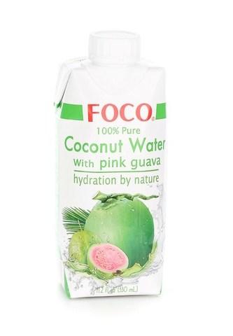 Кокосовая вода с розовой гуавой FOCO   330мл.