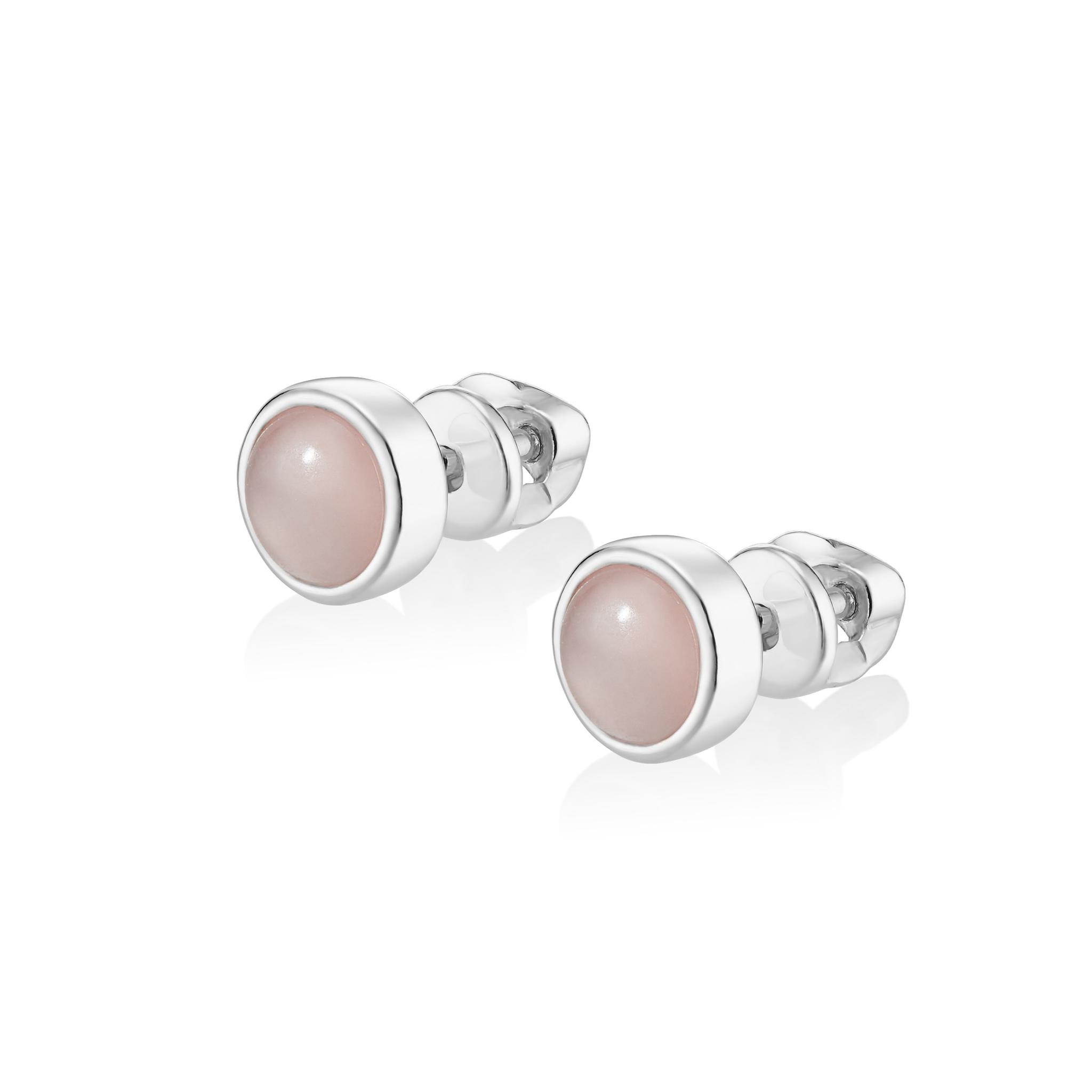 Серьги ALPHA - Розовый кварц (Закрутка)