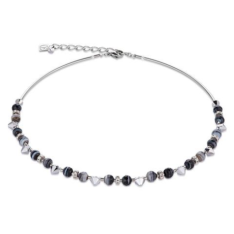 Колье Coeur de Lion 4894/10-1314 цвет серый, чёрный, серебряный