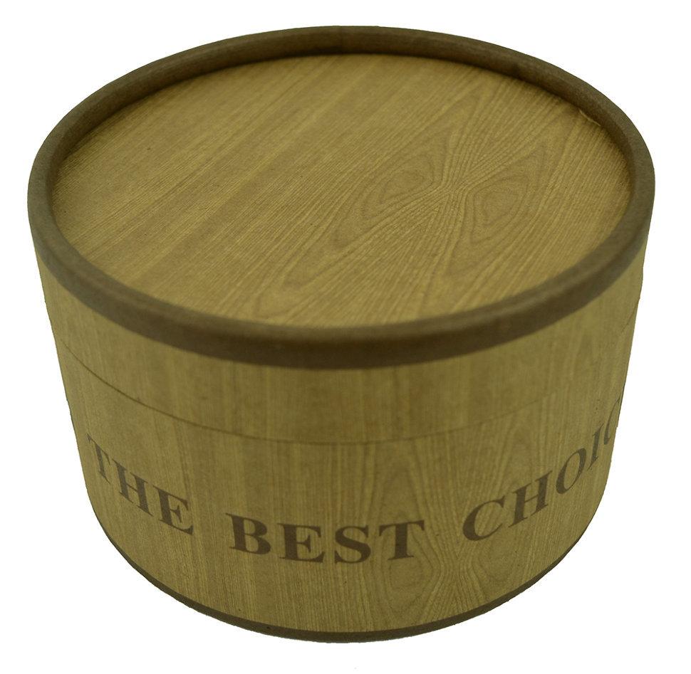 Коробка подарочная для ремня из картона под дерево 13х13х8 см арт.3003