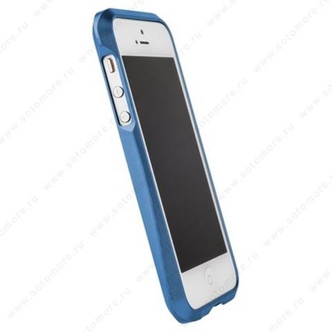 Бампер MIE COOL алюминиевый для iPhone SE/ 5s/ 5C/ 5 A6063 голубой