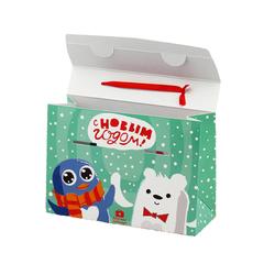 Коробка Детских новогодних наборов в сундучке 10 штук