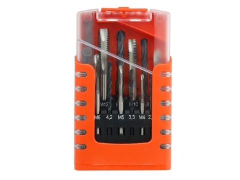 Набор метчиков машинных Bucovice Typ D DIN371/376 2N HSS М3-М12 104001 + сверла/стружколом