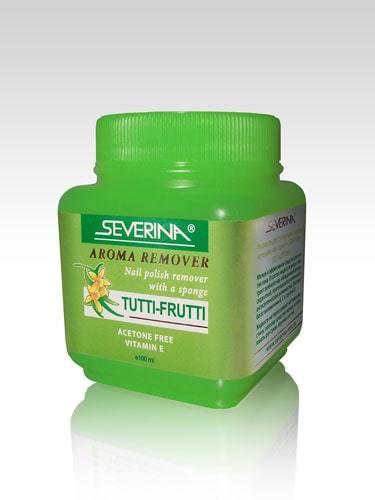 Жидкость для снятия лака «Aroma Remover - Tutti-Frutti» с поролоновой губкой, 100 мл SEVERINA