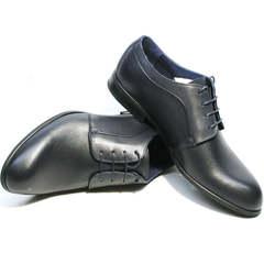 Классические туфли мужские Ikos 060-4 ClassicBlue