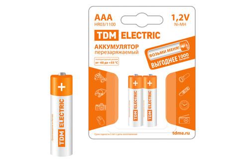 Аккумулятор AAA-1100 mAh Ni-MH BP-2 TDM