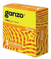 Презервативы GANZO  JUICE, No3 (Ароматизированные, 3шт. в упак.)