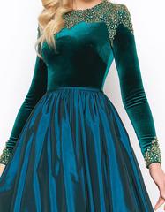 Великолепное изумрудное платье с пышной юбкой Mac Duggal 104488
