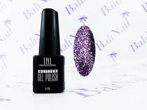 TNL Гель-лак GLITTER  06 - Фиолетовый, 6 мл