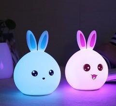 силиконовый led-светильник заяц детский 7 цветов фото