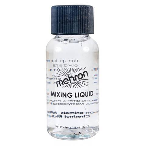 MEHRON Жидкость для фиксации блесток и пигментов на лице и теле Mixing Liquid, 30 мл