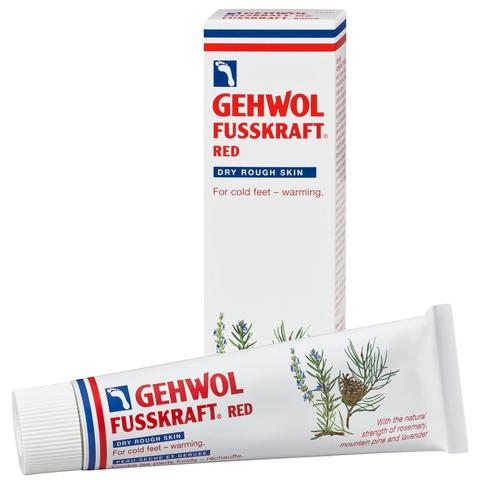 Бальзам Красный для сухой кожи GEHWOL Fusskraft Red, Dry Rough Skin, 75 мл.