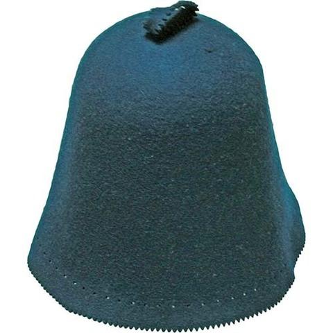 Банный колпак из фетра (синий)