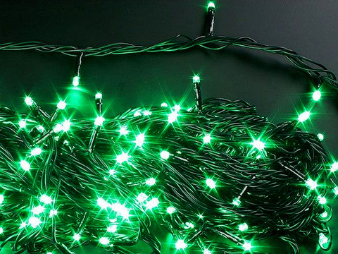 91831-2 Гирлянда зеленая 100 LED 7,5 м